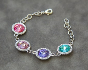 Mother's Bracelet, Personalized Gift for Mom, Grandmother Jewelry, Mothers Day Gift for Grandma, Family Birthstone Jewelry