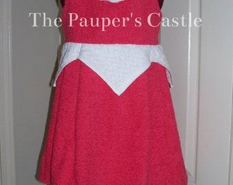 Child's/Girls/Toddler Disney Princess Sleeping Beauty / Aurora Swim Cover Up / Spa Towel / Beach Dress