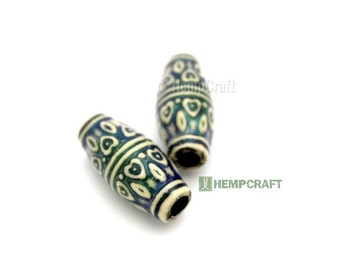 Heart Design Mood Beads, 2pc Polymer Mood Beads, 10x23mm Tube, Color Changing Thermo-Sensitive Bead (MB4)