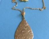 Gold Design Pendant Necklace