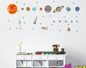 Solar System Wall Decals Vinyl Stickers Removable - repositionable (by babygraphics)