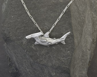 Sterling Silver Hammerhead Shark Pendant on a Sterling Silver Chain