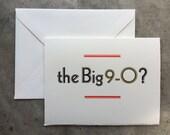 Letterpress Birthday Card - 90 Year Milestone - O?
