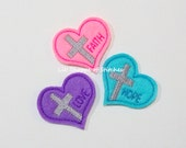 Love Faith Hope Sentiments Felt Appliques -Faith Feltie Applique-Love Embroidered Felt Applique-Hope Felties-UNCUT (Set of 3)