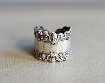 Goddess Ring,Silver Ring,Jewelry Gift, Ring,Silver,Flower,Antique Ring,Silver Ring,Blossom,Wedding,Bridesmaid.