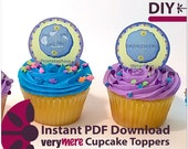 DIY Mitosis Cupcake Toppers Digital Download
