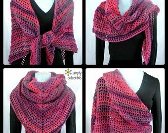 Coraline in the Wine Country Shawl Crochet Pattern - Written Pattern PDF