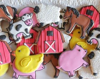 A Dozen Farm Theme Vanilla Sugar Cookie