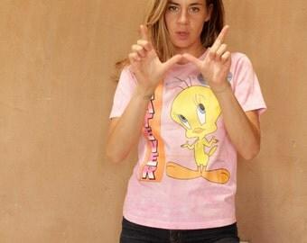 90s WHATEVER tweety bird CLUELESS shirt