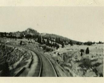 "Vintage Photo ""Escape to the West"" Railroad Train Snapshot Photo Old Antique Photo Black & White Photograph Found Photo Paper Ephemera - 18"