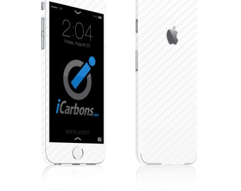 iCarbons White Carbon Fiber iPhone 6 / 6 Plus / 6S / 6S Plus Skin Decal FULL COMBO