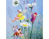 Flower Fairy Card - Daisy Faeries - Art Outside and In - Repro Margaret Tarrant