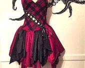 Fairy Dress - Crimson Corset Dress - ON SALE!