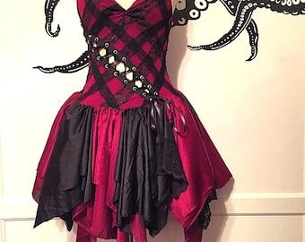 Fairy Dress - Crimson Corset Dress - Halloween Costume