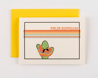Senor Cactus Feliz Navidad Greeting Cards - Set of 5