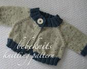 Bebeknits Round About Raglan Baby Cardigan Knitting Pattern