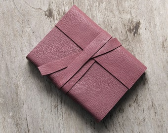 """4x6"""" Dusty red leather journal notebook, travel journal, writing ispiration, hand bound diary sketchbook, blank book with 240 white pages"""