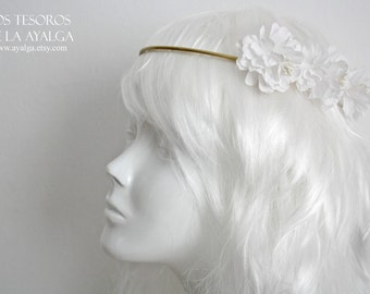 wedding circlet - bridal headpiece - floral crown