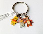 Winnie the Pooh Bear and Friends Keychain, Vintage Pooh Bear