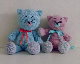 Crochet Amigurumi Pattern Cat PDF - Kitty and Cat amigurumi Toy crochet pattern - Instant DOWNLOAD