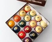 vintage billiard balls, Brunswick Century billiard balls