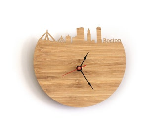 Wall Clock - Boston, Massachusetts Skyline