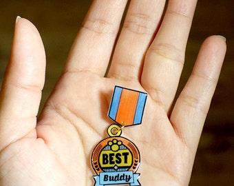 Best Buddy Merit Badge Pin