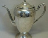 Tea Pot #5140 Silver On Copper Academy Silver Co 1950-1960