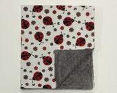 Minky Blanket - Ladybug