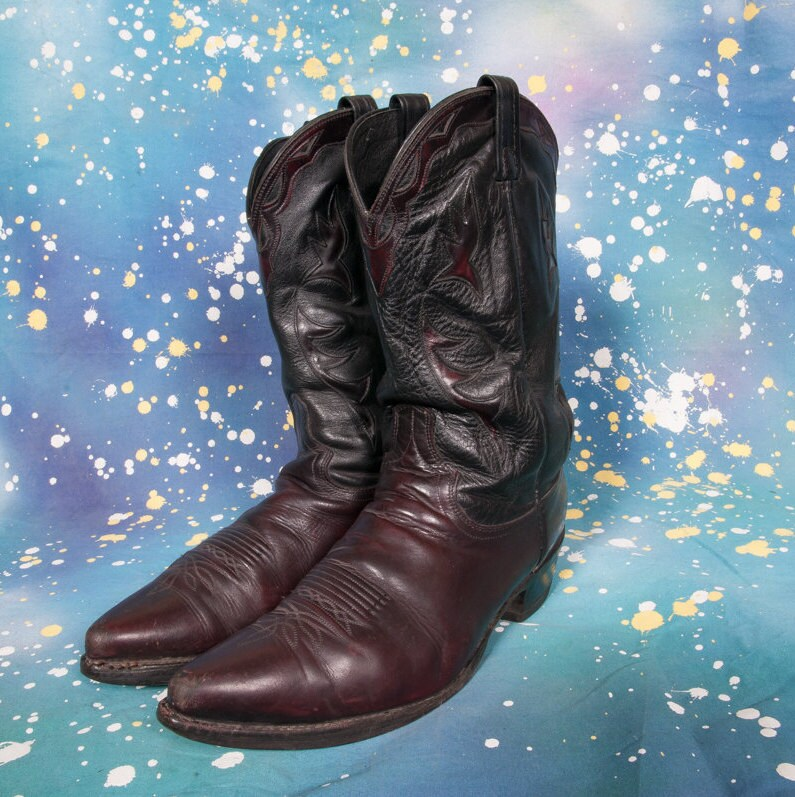 dan post cowboy boots s size 13 d by metropolisnycvintage