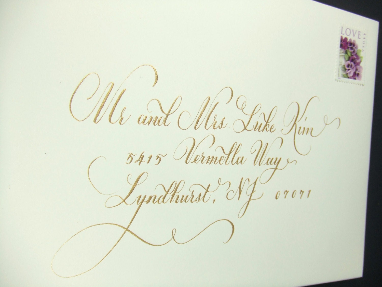 Calligraphy To Address Wedding Envelopes
