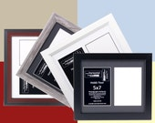 5x7 Multiple 2 Opening Picture Frames with 10x12 Collage Mat for Wedding Photography and Art, Holds Any 5 by 7 inch Media