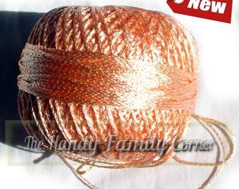 "Viscose Yarn ""Silk Summer"". Summer yarn. Peach color. (col. 2307). Rayon type yarn. Wedding yarn."