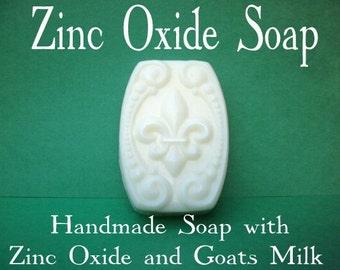 Zinc Soap - ORGANIC Soap - Problem Skin Care - Zinc Oxide - Natural Soap - Handmade