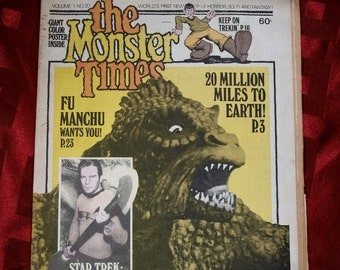 The Monster Times 1973 No 20 R Crumb Star Trek Keep On Trekin 20 million Miles Fu Manchu Neal Adams Sarlin Horror Sci Fi