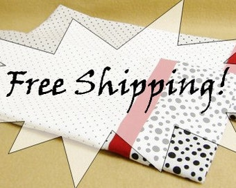 Pillowcases Black & White Polka Dots Set of Two 2 Standard Size