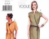 Easy Wrap Dress Pattern Vogue 7227 (Womens sizes 14-16-18)