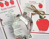 Cookie Cutters, Apple Cookie Cutter, Fruit Cookie Cutter, Baking Supply, Teacher Gift, Snow White Party, Party Favor, School Classroom Party