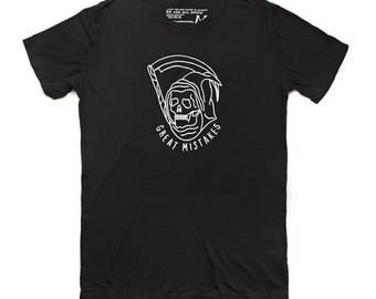 Sale Fitted t-shirt for men - black t-shirt for men with short sleeves - mens t-shirt - Black tee - black crew neck t-shirt