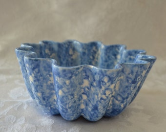 Stangl Town and Country Blue Fluted Bowl
