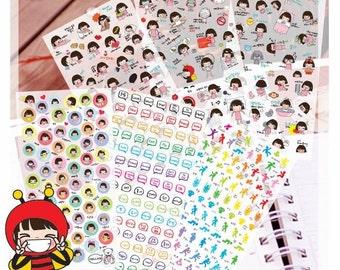 Fanny Girl Diary Deco Sticker (6 Sheets)