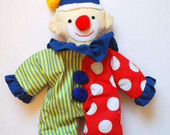 Plush Clown Rag Doll