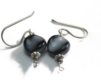 Black & Silver Earrings (15 pairs)