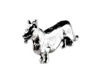 Corgi Dog Lapel Pin - Tie Tack - Valentine's Gift - Handmade - Gift Box Included