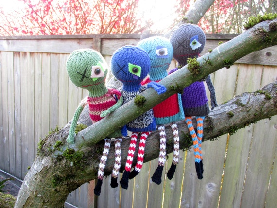 Zombie Knitting Pattern : Pattern only beware of zombies knitting by