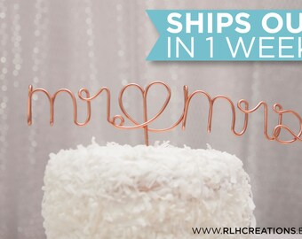 Mr and Mrs Cake Topper / Wire Cake Topper / Mr Mrs Wedding Cake Topper / Mr & Mrs / Romantic Cake Topper / Simple Cake Topper / Wedding Cake