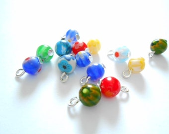 Millifiori Glass Dangle Beads