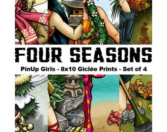 Four Seasons : Full Set - 8x10 Giclee Prints