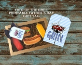 Father's Day Gift Tag / Printable / Favor Tag / Father's Day / Instant Download / Happy Father's Day Tag / Grill, King of the Grill