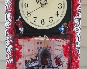 Alice in Wonderland Corner Curio Clock